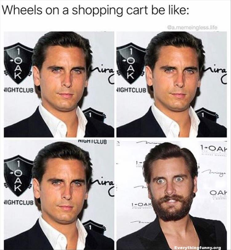 funny captions wheels on a shopping cart be like 3perfect pictures of scott disnick one bad pictures