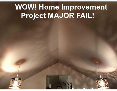 funny fail funny home improvement project major fail - 2 hanging lights look like two large breasts on ceiling