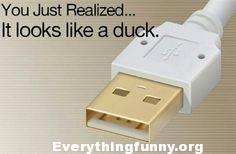 funny caption, funny post you just realized that chargers and cables look like ducks