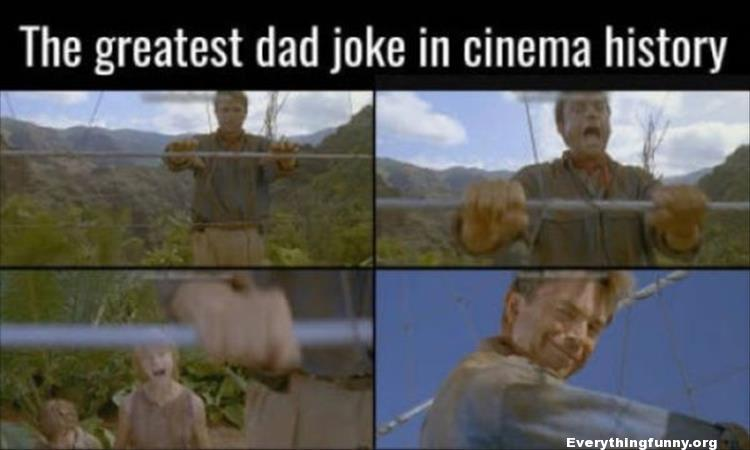 funny the greatest dad joke in cinema history jurassic park pretending to get electrocuted in front of kids