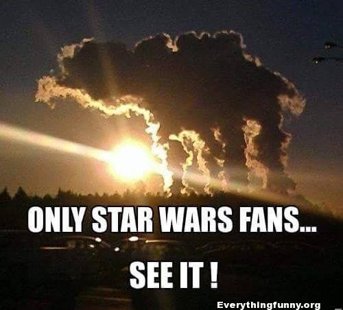 funny cloud shape formation looks like at-at from star wars