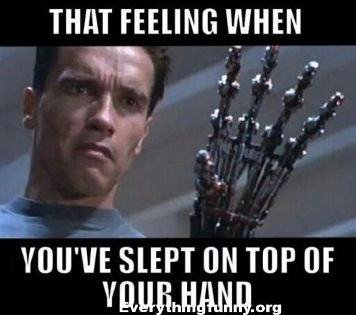 funny arnold meme, that feeling when you've slept on your hand, funny memes, funny relatable,